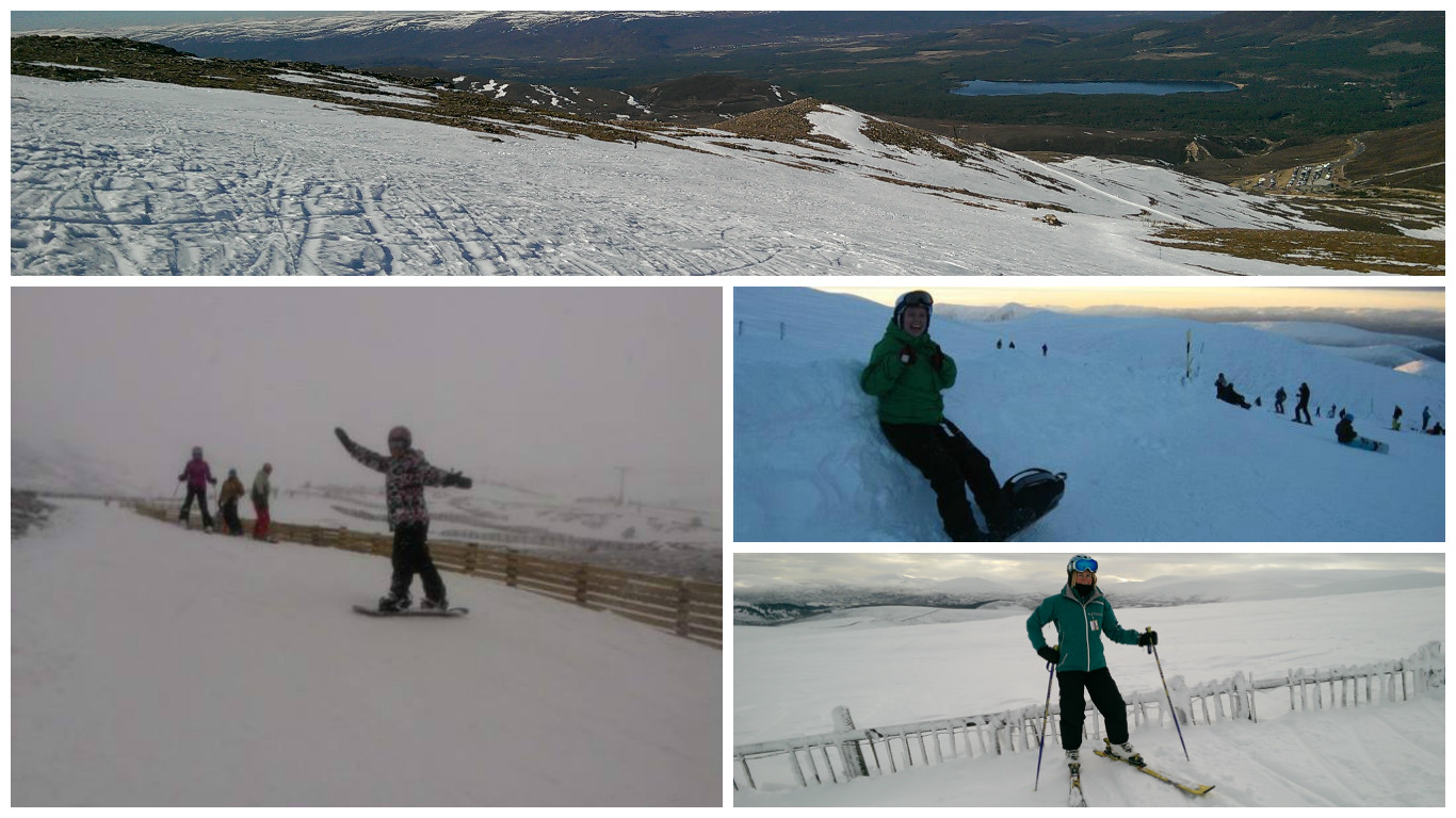 skiing on cairngorm