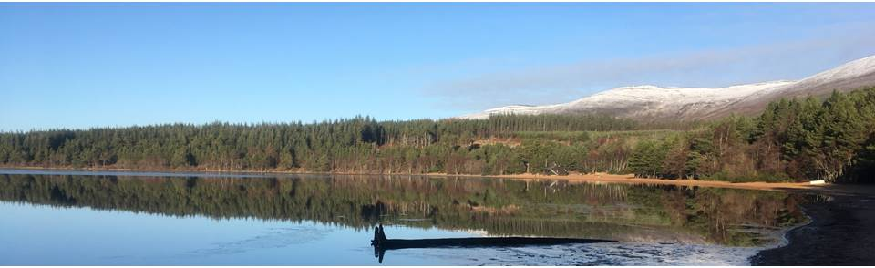 Loch Morlich at Easter, Cairngorms National Park